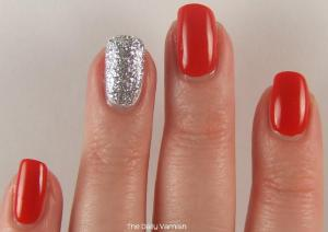 Essie Hip-Anema and Silver Glitter 2