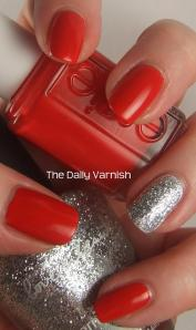 Essie Hip-Anema and Silver Glitter 3