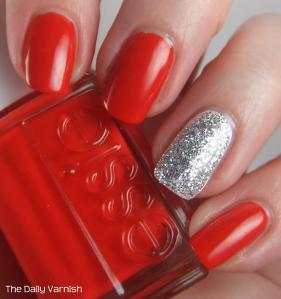 Essie Hip-Anema and Silver Glitter