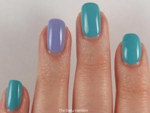 Essie In The Cab-ana and OPI You're Such a Budapest 3