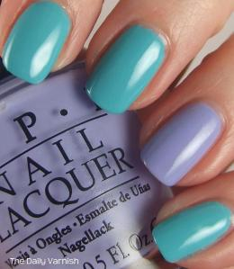 Essie In The Cab-ana and OPI You're Such a Budapest 4