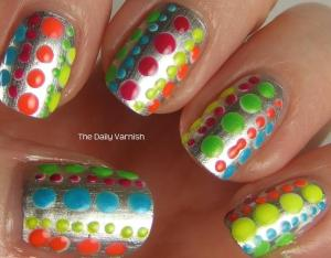 Essie No Place Like Chrome + Neon Polka Dots 2