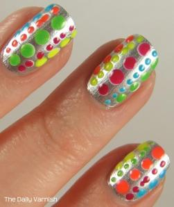 Essie No Place Like Chrome + Neon Polka Dots MACRO