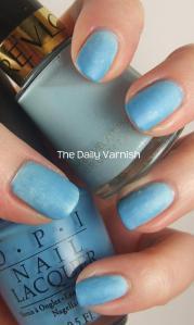Matte Blue Gradient Manicure 2