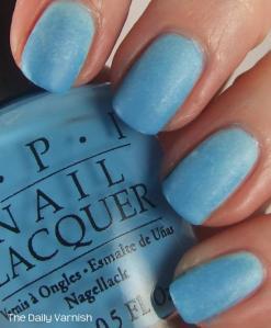 Matte Blue Gradient Manicure