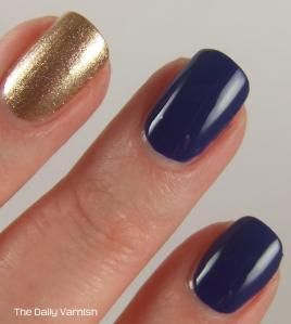 OPI Eurso Euro and wet n wild Fergie nail color Grammy Gold MACRO