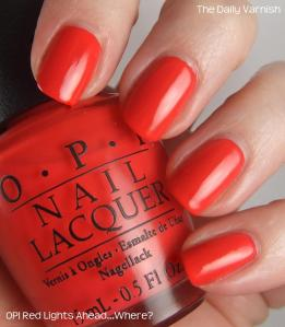 OPI Red Lights Ahead…Where
