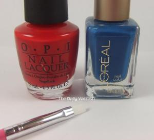 OPI Perfectly Red, L'Oreal Jet Set To Paris, Ulta Snow White (not shown)