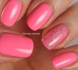 PISTOL polish Run The World and Pixi Fluoro Flamingo 2