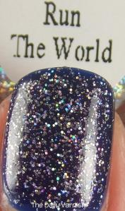 PISTOL polish Run The World and Revlon Royal MACRO 2