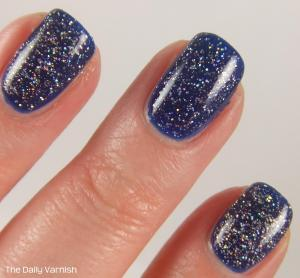 PISTOL polish Run The World and Revlon Royal MACRO