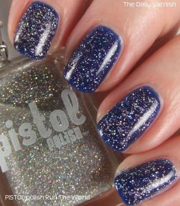 PISTOL polish Run The World and Revlon Royal