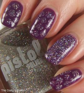 PISTOL polish Run The World polka dots
