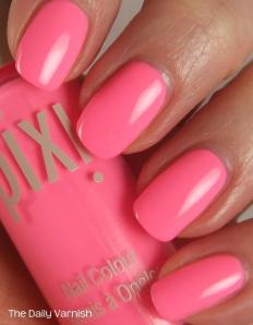 Pixi Polish Fluoro Flamingo 4