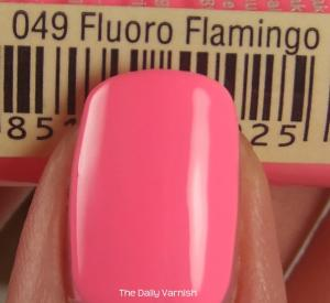 Pixi Polish Fluoro Flamingo MACRO 2