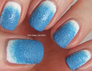 Textured Gradient Nail Art 2