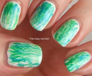 Watercolor Nail Art 2