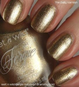 wet n wild Fergie nail color Grammy Gold