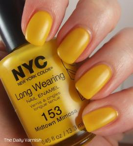 NYC Midtown Mimosa topped with my DIY matte top coat