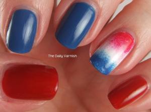 Firecracker Popsicle accent nail 2