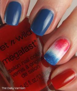 Firecracker Popsicle accent nail wet n wild
