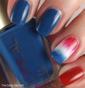 Firecracker Popsicle accent nail