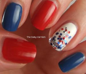 Fourth of July Manicure 2