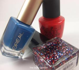 Fourth of July Manicure bottles