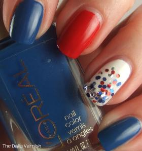 Fourth of July Manicure L'Oreal
