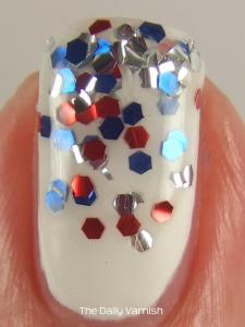 Fourth of July Manicure MACRO 2