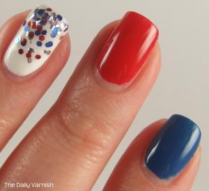 Fourth of July Manicure MACRO