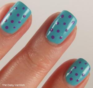Nail Art Summer Polka Dots MACRO