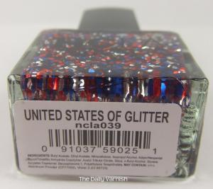 NCLA United States of Glitter label
