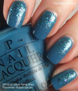 OPI Suzi Says Feng Shui and Shimmer Polish Sarah