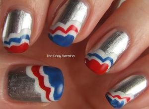 Patriotic Scalloped Tips 2
