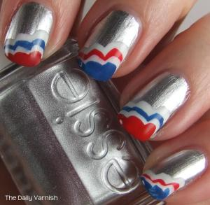 Patriotic Scalloped Tips Essie