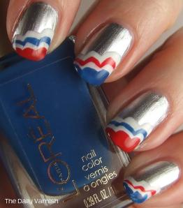 Patriotic Scalloped Tips L'Oreal