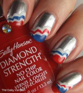 Patriotic Scalloped Tips Sally Hansen