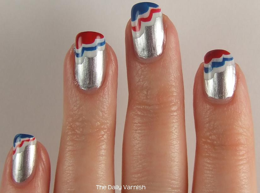 Patriotic Scalloped Tips