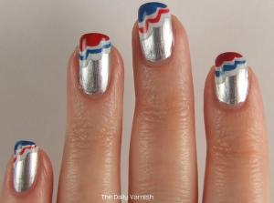 Patriotic Scalloped Tips