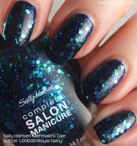 Sally Hansen Mermaid's Tale over butter LONDON Royal Navy