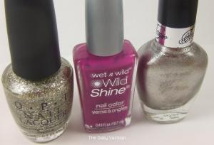 wet n wild Fashionista Lisa and OPI Spark de Triomphe bottles
