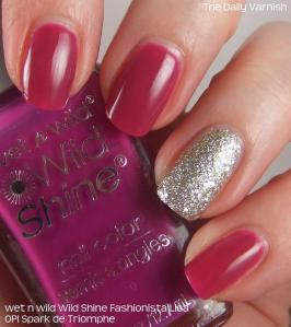 wet n wild Fashionista Lisa and OPI Spark de Triomphe