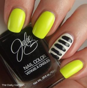 JulieG Toothpick Stripes Nail Art