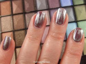 Metallic Acid Wash Nail Art