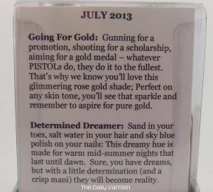 PISTOL polish July 2013 duo description