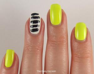 Toothpick Stripes Nail Art 2