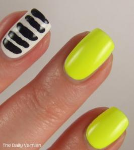 Toothpick Stripes Nail Art MACRO