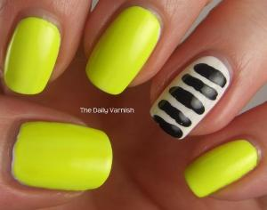 Toothpick Stripes Nail Art